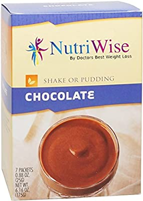 NutriWise - Chocolate Protein Diet Shake/Pudding (7/Box)