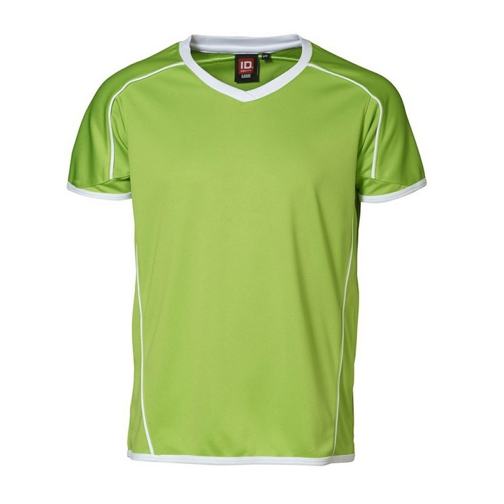 ID Childrens//Kids Team Short Sleeve V-Neck Sport T-Shirt