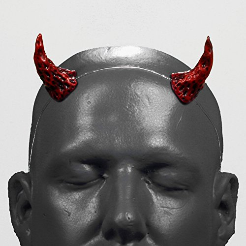 Wizard v1 Red & Black Demon Devil Horns w/ self locking clear