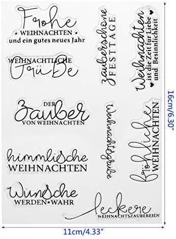 6 Arten Schneeflocke Liebe Transparent Silikon Stempel Siegel Blatt für DIY