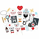 iMagitek 40 Pcs Dentist Nurse Electrocardiogram CT Scan Party Decoration Photo Booth Props Birthday Party Supplies Photobooth Prop