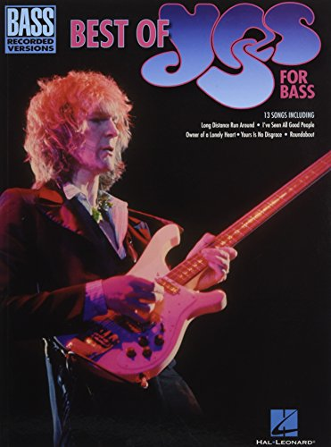 Bass Recorded Versions Songbook - Best Of Yes For Bass (Bass Recorded Versions)