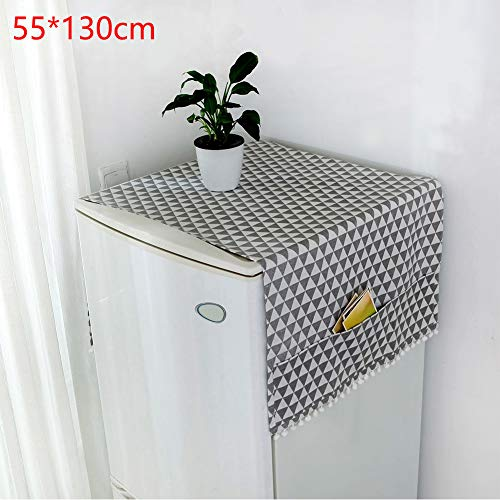 Birmingfive Washing Machine Cover Household with Pockets for Kitchen Floral Refrigerator Accessories Case Dustproof Washable Storage Protector Washer Lid(7)