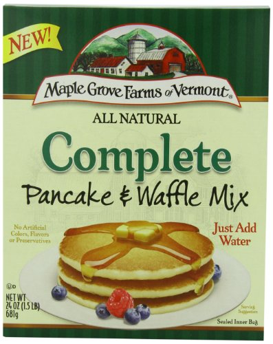 Maple Grove Farms All Natural Pancake & Waffle Mix, Complete, 24 Ounce (Pack of 6)