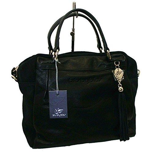 BORSA IN PELLE E CAMOSCIO BYBLOS 626515 WOMAN BAGS BERLIN LEATHER BAG NERO 5ec942df2f3