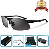 COSVER Men's Polarized Sports Sunglasses for Men Driving Cycling Running Fishing Golf Unbreakable Frame Metal Glasses 8003 …