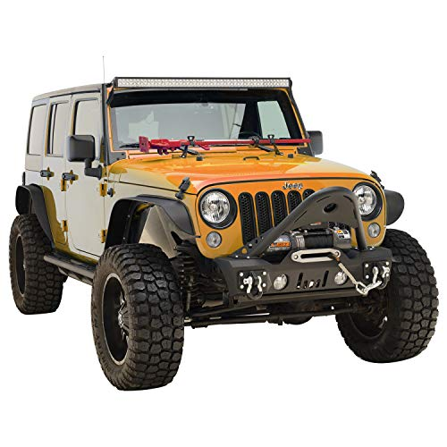"""EAG Rear Bumper Guard with 2/""""Hitch Receiver for 07-18 Jeep Wrangler JK Offroad"""