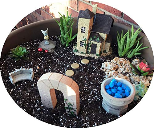 French Cottage Fairy Garden Starter Kit with Fairy Victoria | Cottage House and Durable, Hand-Crafted Accessories Hand-Crafted Collection ()