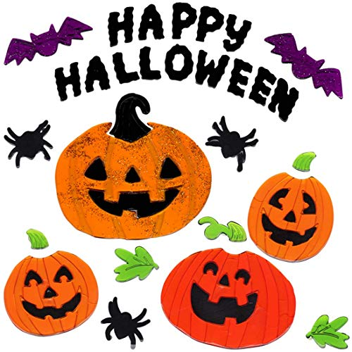 Gel Charms Halloween Window Clings 2018 Pumpkins Decor