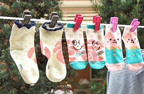 Aeeque/® 20 St/ück Robust Slim Rosa Klammer Kunststoff Plastik W/äscheklammern Clips f/ür Bekleidung Set of 20 Unterw/äsche Kleid Hose Socken