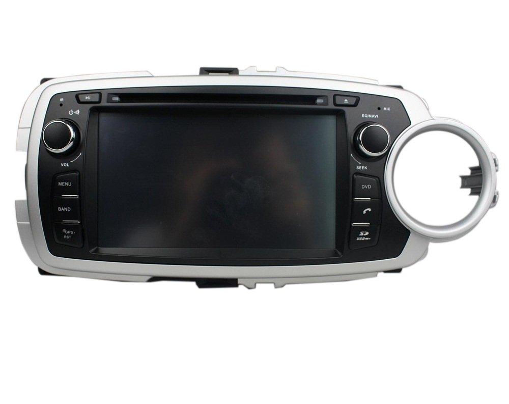 7 inch Quad Core 1024 * 600 Android 5.1 coche reproductor de DVD GPS navegación Multimedia estéreo de coche para Toyota Yaris 2012 2013 Radio Control de ...