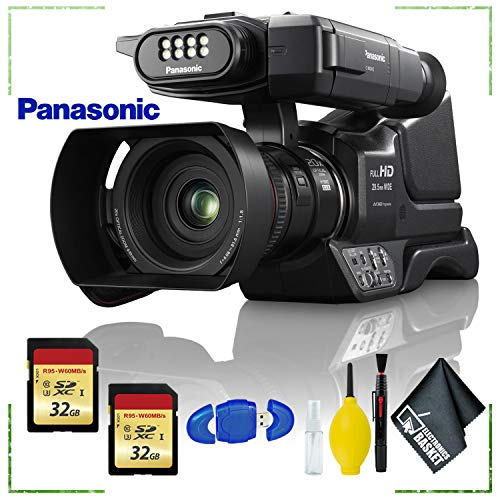 - Panasonic HC-MDH3 AVCHD Shoulder Mount Camcorder with LCD Touchscreen + 32gb Memory Card Bundle + Cleaning Kit