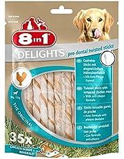 8in1 Delights Pro Dental, gesunder Kausnack für Hunde zur Zahnpflege, versch. Varianten