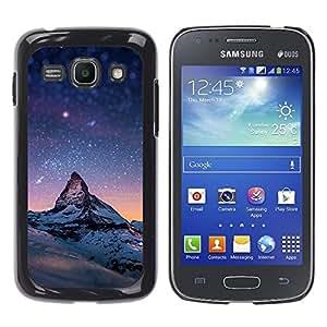 Estrellada Montaña Monte Everest - Metal de aluminio y de plástico duro Caja del teléfono - Negro - Samsung Galaxy Ace 3