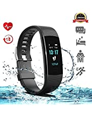 Akuti IP67 Waterproof Fitness Tracker Heart Rate Monitor Sleep Monitor Step Counter for Men Women Kids