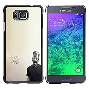 Carcasa de plástico funda        Samsung Alfa G850        Micrófono música mente protesta libertad @ XPTECH