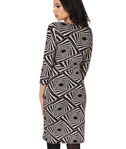 KRISP Vestido Mujer Corto Manga Corta Ajustado Punto Elegante Tallas Grandes Multicolor (4273)