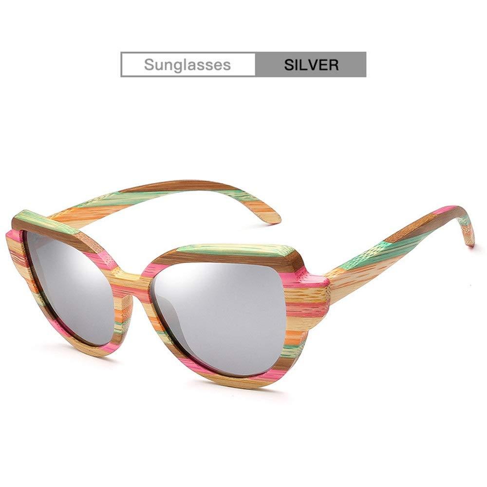 XXYHYQ Sunglasses Moda Retro Espejo Plano Colorfull Rayas de ...