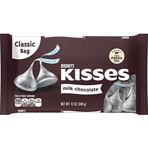 HERSHEY'S Kisses Chocolate Candy, 12 Ounce (Pack of