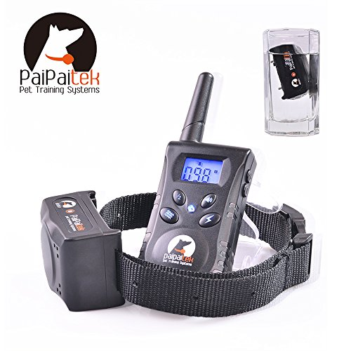 2017 MODEL Paipaitek PD-520 Rechargeable & Waterproof Electric Remote Dog Training Collar Anti Bark No Barking with Static / Tone / Vibration Suitable for All Dogs