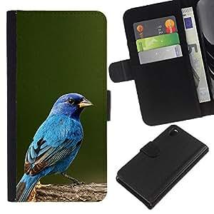 Stuss Case / Funda Carcasa PU de Cuero - Blue Spring Green Nature - Sony Xperia Z3 D6603