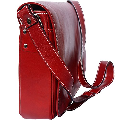Rouge Florence Sac Leather Business Market Serviette Porte document Cartable Bandoulière 6555 vv6Hdqr