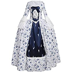 CosplayDiy Women's Rococo Ball Gown Gothic Victorian Dress Costume XS