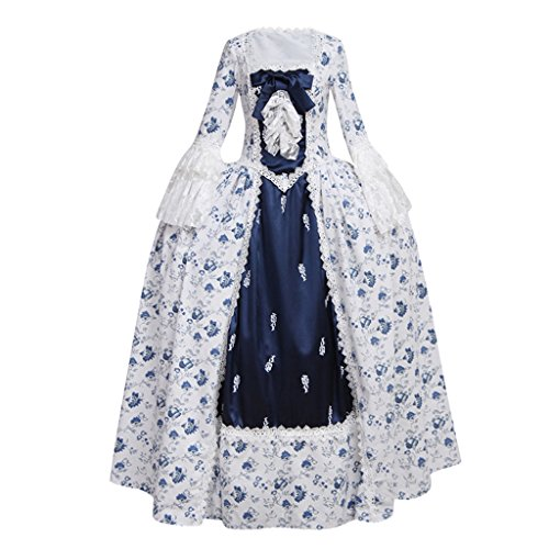 CosplayDiy Women's Rococo Ball Gown Gothic Victorian Dress Costume XS]()