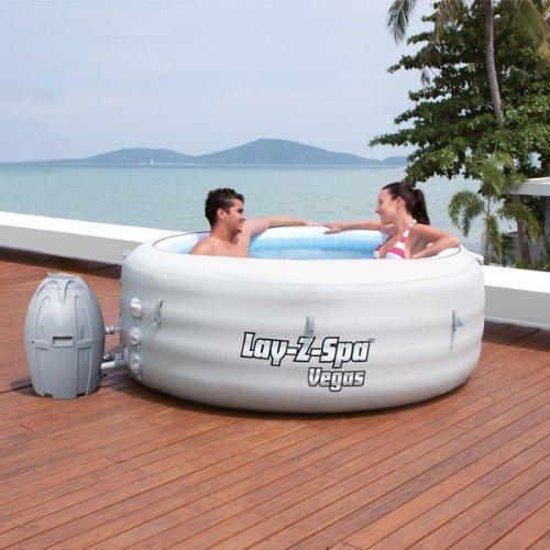 Bestway Lay-Z-Spa filtro y calentador (Miami, Palm Springs, Mónaco y Vegas)- gris: Amazon.es: Jardín