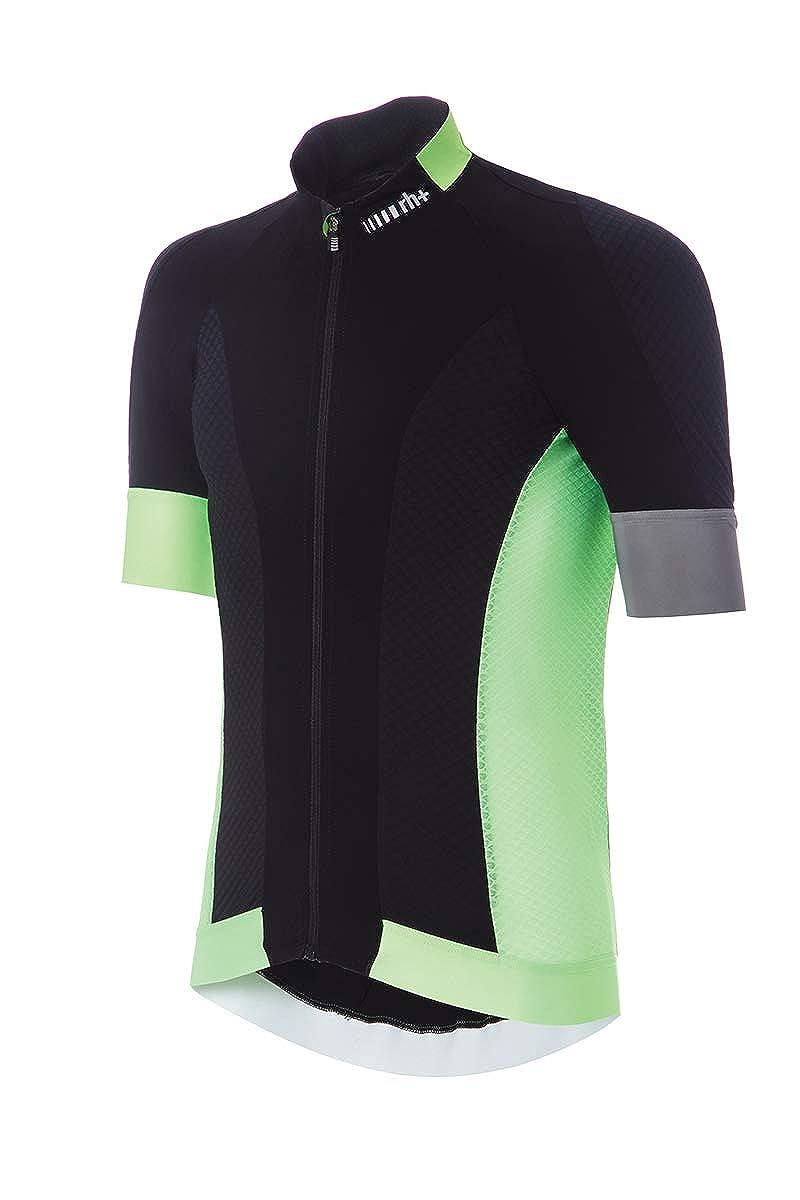 [アールエイチプラス] ECU0612 Maestro Jersey 90H Black-Fluo Green XL サイクルジャージ EU (日本サイズXL相当)   B07MVNN7SQ
