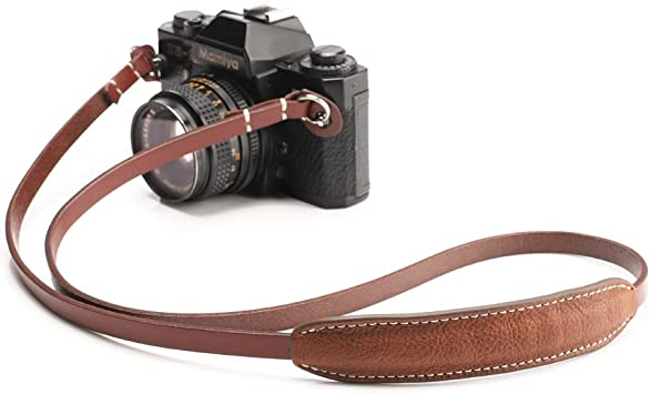 Panasonic Nikon Sony Compatible with Canon Olympus Geniune LeaTure Camera Strap LeaTure Camera Neck Shoulder Strap with Shoulder Pad Black Leica Fujifilm Cameras etc.