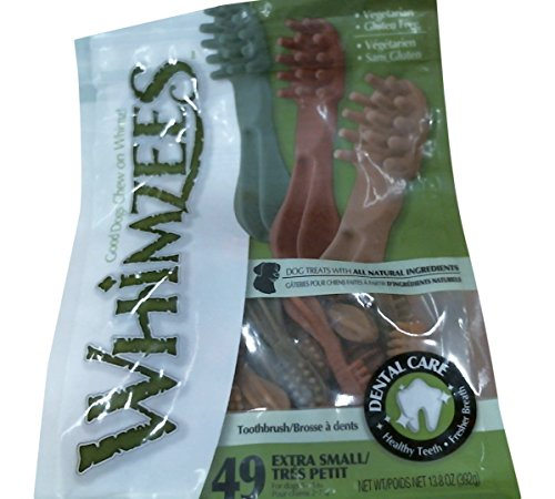 Paragon Whimzees Toothbrush Star Dental Treat for X-Small Dogs, 49 Per Bag