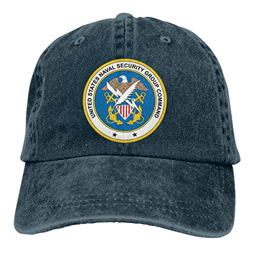 (US Navy Naval Security Group Command Mens Cotton Adjustable Washed Twill Baseball Cap)
