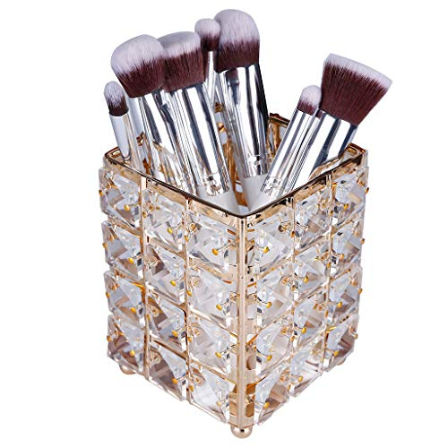 Arrowsy Cosmetic Storage Tube Pen Holder Crystal Candle Holder Wedding Lover Decoration (Gold) ()