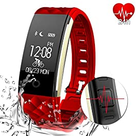 MYPIN Fitness Tracker Activity Heart Rate Monitor IP67 Water...