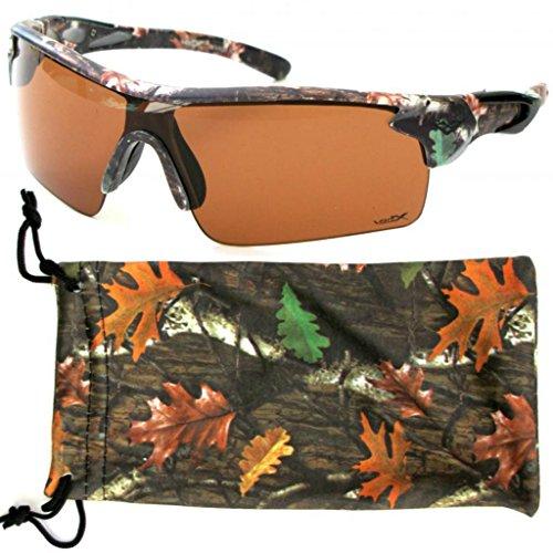 VertX Camouflage Sunglasses Hunting Fishing-HD Driving Lens w/Free Camo Bag