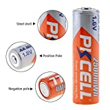 8Pcs 1.6V AA 2500mWh Rechargeable Batteries with