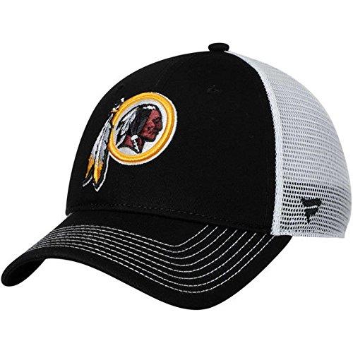 Fanatics Branded Washington Redskins Core Trucker II Adjustable Snapback Hat - Black/White (One Size)