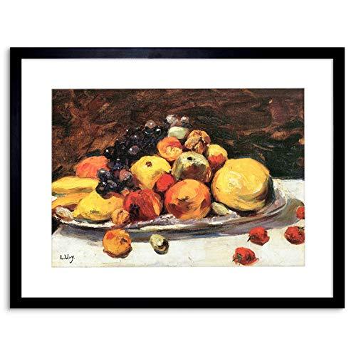 Painting Ury Fruit Still Life White Blanket Framed Wall Art Print