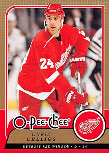 (2008-09 O-Pee-Chee Hockey #329 Chris Chelios Detroit Red Wings Official NHL Trading Card From Upper Deck)
