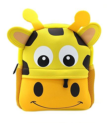 Little Kids Backpack 3D Animal Cartoon Waterproof Preschool Lunch Bag for Toddlers (giraffe) ()