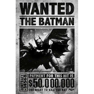 Batman Kill the Bat Arkham Origins Video Game Poster (24 x 36 inches) -