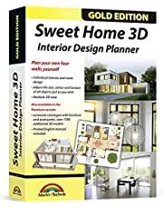 Sweet Home 3D - Interior Design Planner with an additional 1100 3D models and a printed manual, ideal for architects and planners - for Windows 10-8-7 & MAC