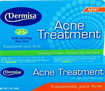 Dermisa Acne Treatment, 1 oz (Pack of 3) Sollume Esthe LED Real Beauty Mask