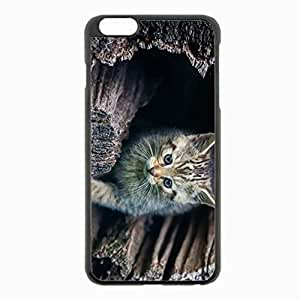iPhone 6 Plus Black Hardshell Case 5.5inch - peek striped log Desin Images Protector Back Cover