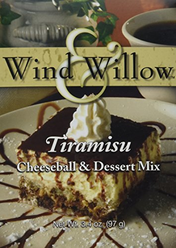Wind and Willow Tiramisu Cheeseball Dessert Mix - 3.4 Ounce (4 Pack) (Dessert Tiramisu)