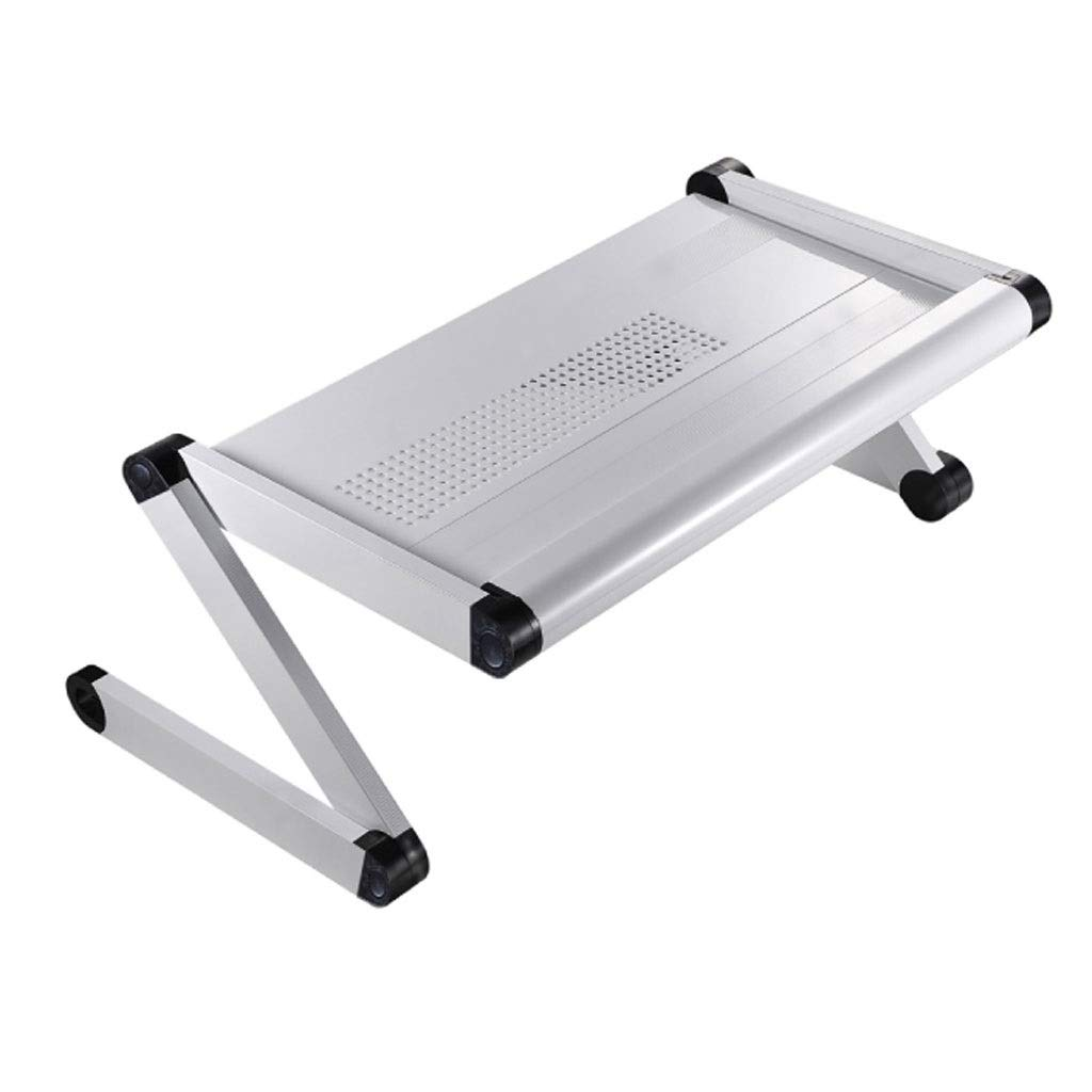XJY Aluminum Alloy Cooling Folding Table Study Table with Cooling Holes Fanless Laptop Desk (Color : White)