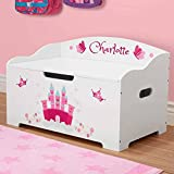 Personalized Dibsies Modern Expressions Toy Box - White (Princess)