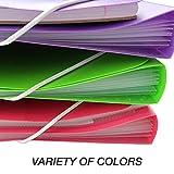 Samsill Duo 2-in-1 Organizer / 1 Inch 3 Ring Binder & File Organizer Combination/School Supplies/Paper Organizer/Black/Updated Version