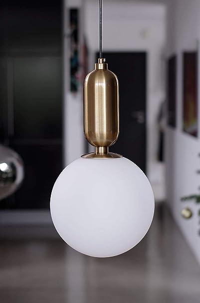 Postmodern Minimalist chandelier brass glass NEUERRAUM